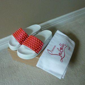 CHRISTIAN LOUBOUTIN Spike Flat Pool Slide Sandals